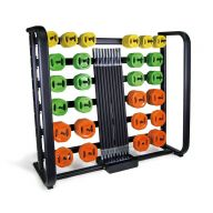Ensemble 25 sets pump rouge et rack